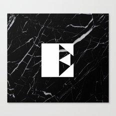 Black Marble - Alphabet E Canvas Print