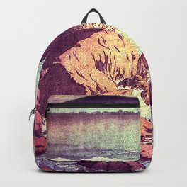 Stopping by the Shore at Uke Backpack