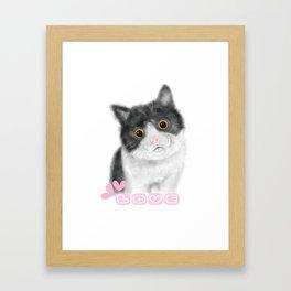 Cat's love Framed Art Print