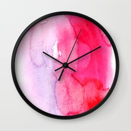 watercolor splash Wall Clock