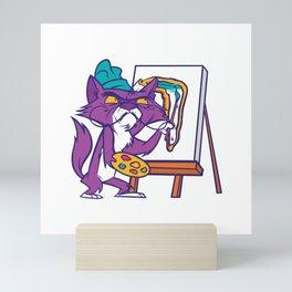 Dali Cat  - Surrealist Painting Mini Art Print