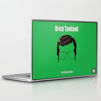 anchorman Laptop & iPad Skins featuring Brick Tamland: Weather by BC Arts