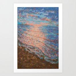 Sundown Good Harbor Art Print