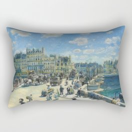 Pont Neuf Paris Painting by Auguste Renoir Rectangular Pillow