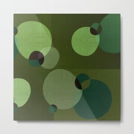 """Retro Green Super Dots"" Metal Print"