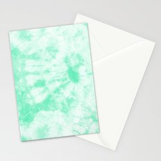 Tie Dye 3 Mint Stationery Cards