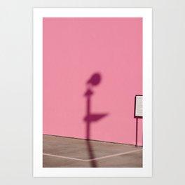 PINK SHADOW LA Art Print