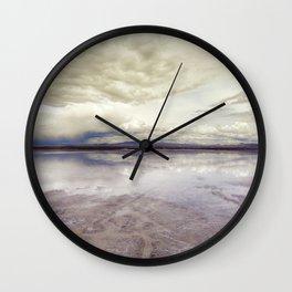 Surreal Bolivian Salt Flat Wall Clock