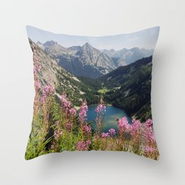 Cascade Summer Wildflowers Throw Pillow