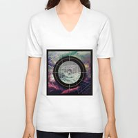 compass V-neck T-shirts featuring Compass by Luisa Burgoyne