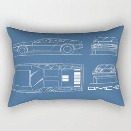 The Delorean DMC-12 Blueprint Rectangular Pillow