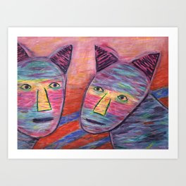 Cat Guys Art Print