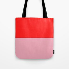 Watermelon Red & Peach Pink Tote Bag