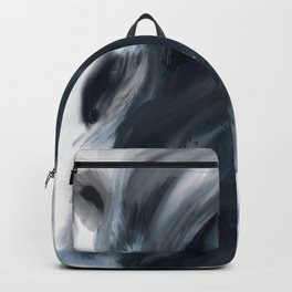 Blue Gray Swirl - abstract painting Backpack