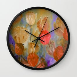 Breaking Dawn in Shades of Gold, Peach and Violet Wall Clock