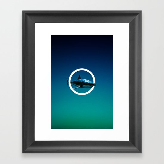Shark. Framed Art Print