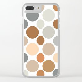 Earth Tone Circlular Abstract Clear iPhone Case