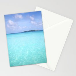 Aqua Water Island Dreams Stationery Cards