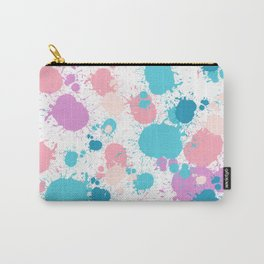 Modern abstract girly watercolor splatters Carry-All Pouch