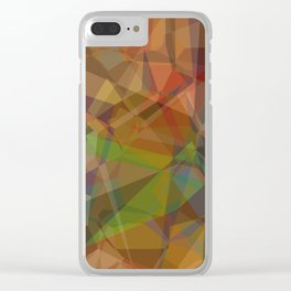 Technical Geomeric Construction Clear iPhone Case