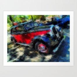 Ancient Hotchkiss Car Art Print