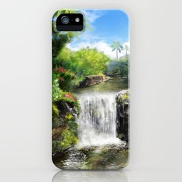 Hawaiian  Garden iPhone Case
