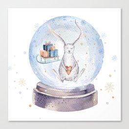 Christmas bunny #3 Canvas Print