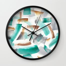 180719 Koh-I-Noor Watercolour Abstract 32| Watercolor Brush Strokes Wall Clock