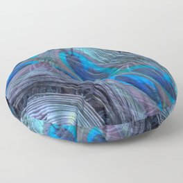 Feather Abstract Floor Pillow