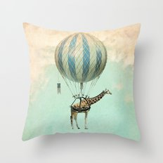 Sticking your neck out Throw Pillow