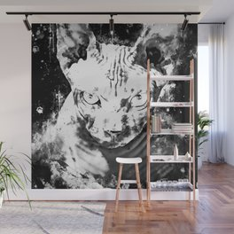sphynx cat from hell wsbw Wall Mural