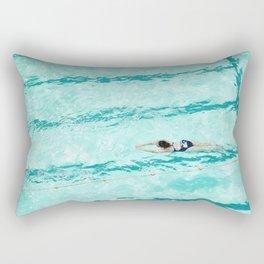 Summer Swimmer Bondi Ocean Pool Rectangular Pillow