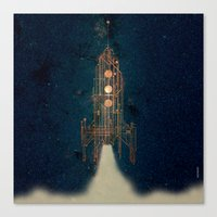 rocket Canvas Prints featuring ROCKET by ARCHIGRAF