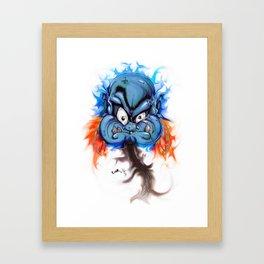Blue Jinn Framed Art Print