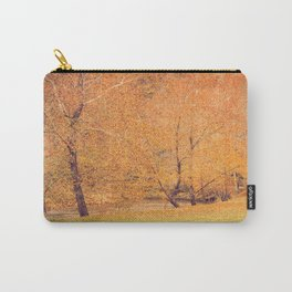 Autumn Landscape -- Trees By The River Carry-All Pouch