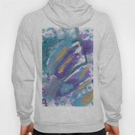Peacock Feathers Abstract Hoody