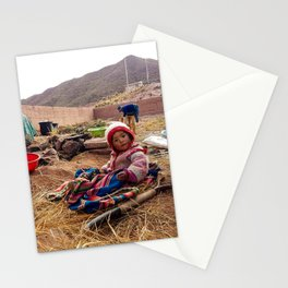 Bolivian little girl. Stationery Cards