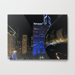 Christmas in the City - Chicago, Illinois Metal Print