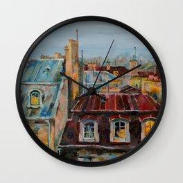 Roofs of Prague Wall Clock