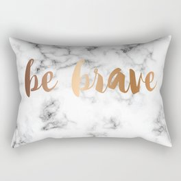 Be Brave Marble 045 Rectangular Pillow