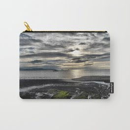 Cloudy Paignton Beach Carry-All Pouch
