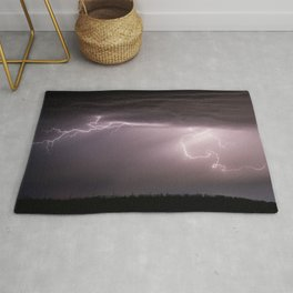 Summer Lightning Storm On The Prairie VI - Nature Landscape Rug