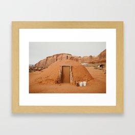 Navajo Hogan Dwelling Framed Art Print