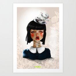 Un essere metafisico in genere non si mette in contatto con noi per telefono  Art Print