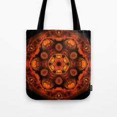 Burning jellyfish kaleidoscope Tote Bag