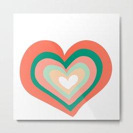 Boho Heart Metal Print
