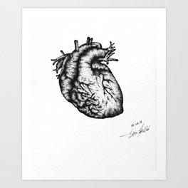 Realistic heart Art Print