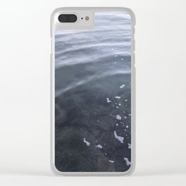 Circle in the water Kits Beach Vancouver Clear iPhone Case