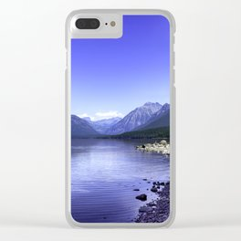 McDonald Lake In Glacier National Park Clear iPhone Case