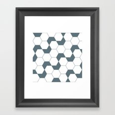 Geometric Pattern #46 (gray hexagons) Framed Art Print